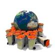 les poubelles sur la terre